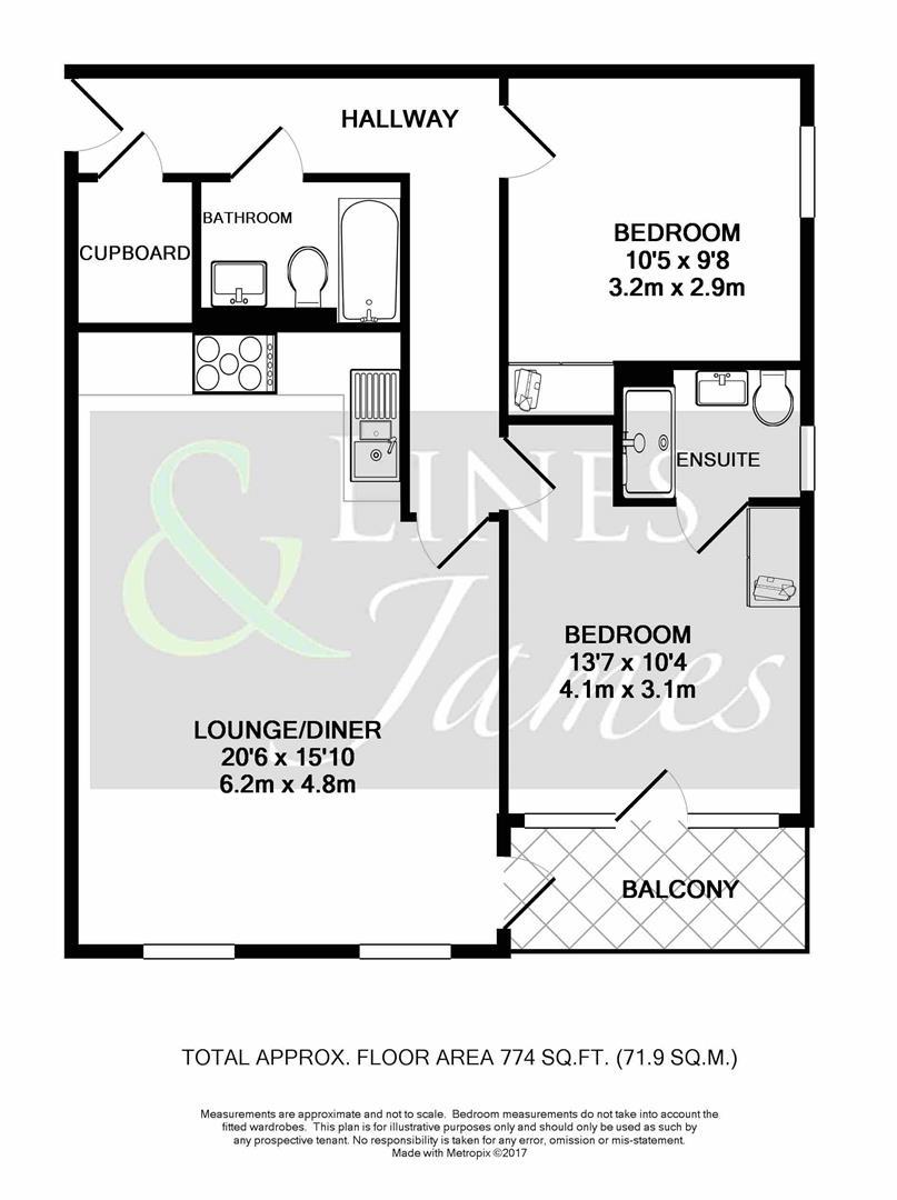 Floorplan for Queensway, Horsham